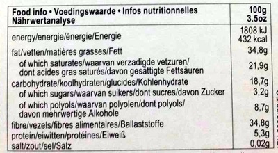 Dark 85% cocoa - Informations nutritionnelles