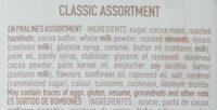 Classic assortiment - Ingrediënten - en