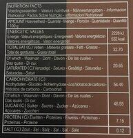 Carre classic - Informations nutritionnelles - fr