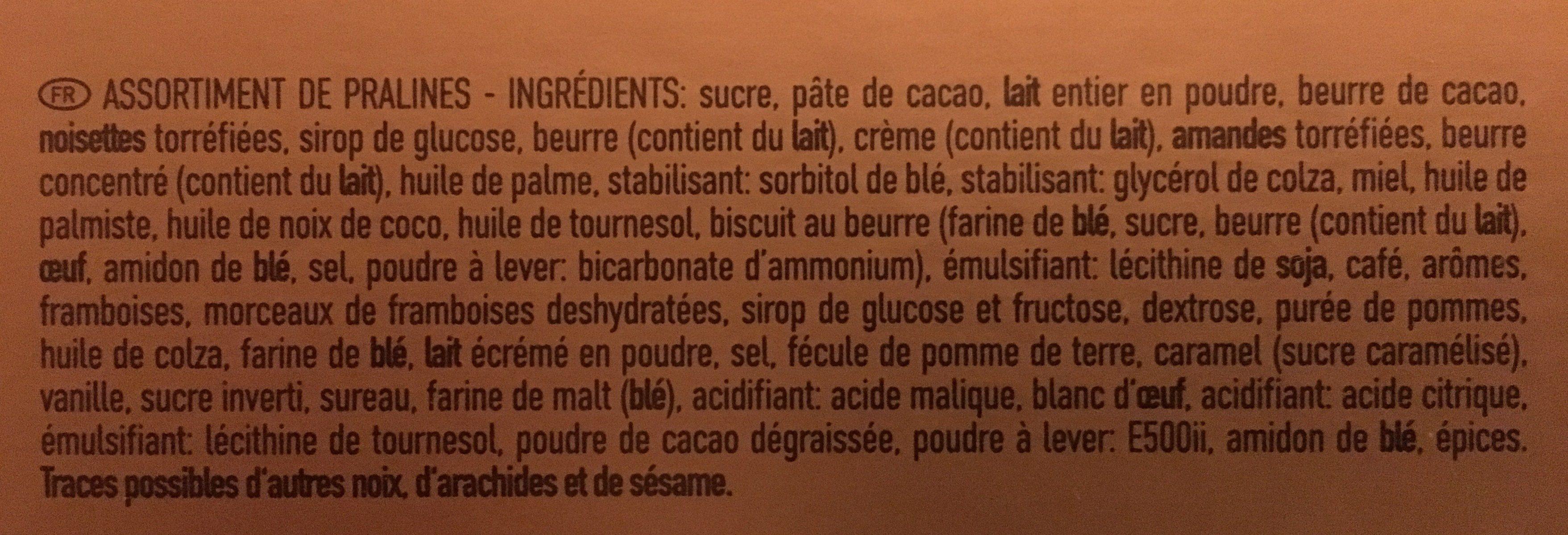Cholocats Neuhaus - Ingrediënten - fr