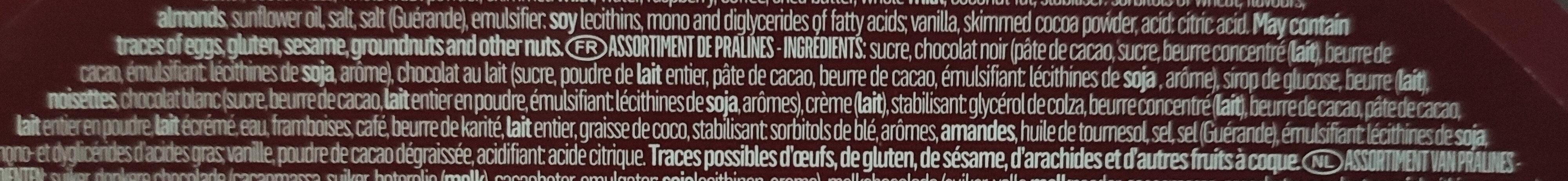 Assortiment de pralines - Ingrediënten