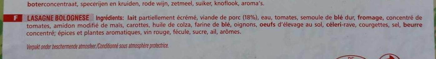 Lasagne bolognese - Ingrediënten - fr