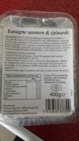 Lasagne Saumon Épinards - Ingredientes - fr