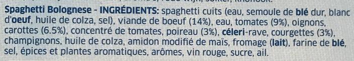 Spaghetti Bolognese - Ingrediënten - fr