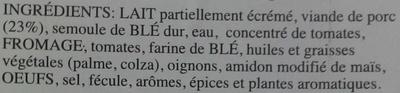 Lasagne - Ingredients - fr