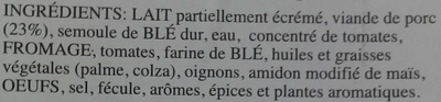 Lasagne - Ingrédients - fr