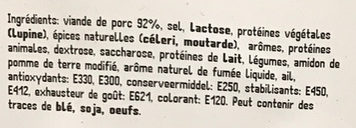 Cervelas Ardennais - Ingrediënten - fr