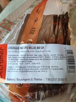 Cramique Nature - Informations nutritionnelles - fr