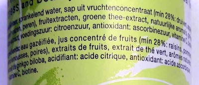 Tao Vitality - Green Tea, Ginko Biloba, Vitamin C, Biotin - Ingrediënten