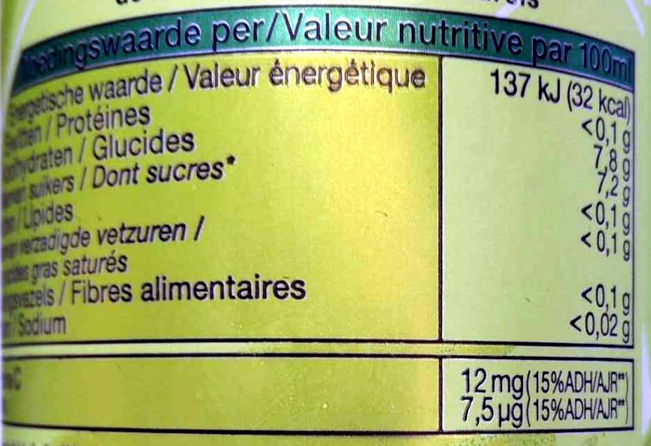Tao Vitality - Green Tea, Ginko Biloba, Vitamin C, Biotin - Voedigswaarden