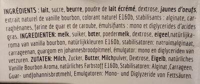 Vanille Bourbon au Beurre - Ingrédients