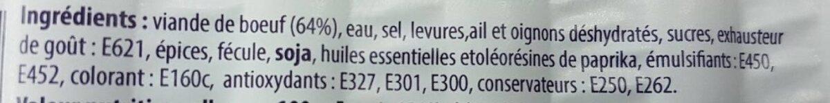 Saucisses De Boeuf - Ingredients - fr