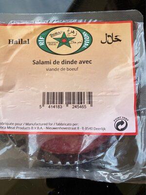 Salami de dinde hallal - Informations nutritionnelles - fr