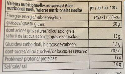 Pizza salami de dinde avec viande de boeuf - Voedingswaarden - fr