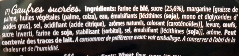 Gaufres de Liège - Ingredientes