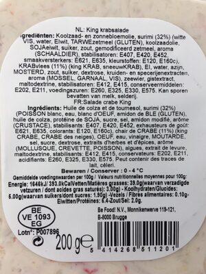 King krabsalade - Ingrediënten