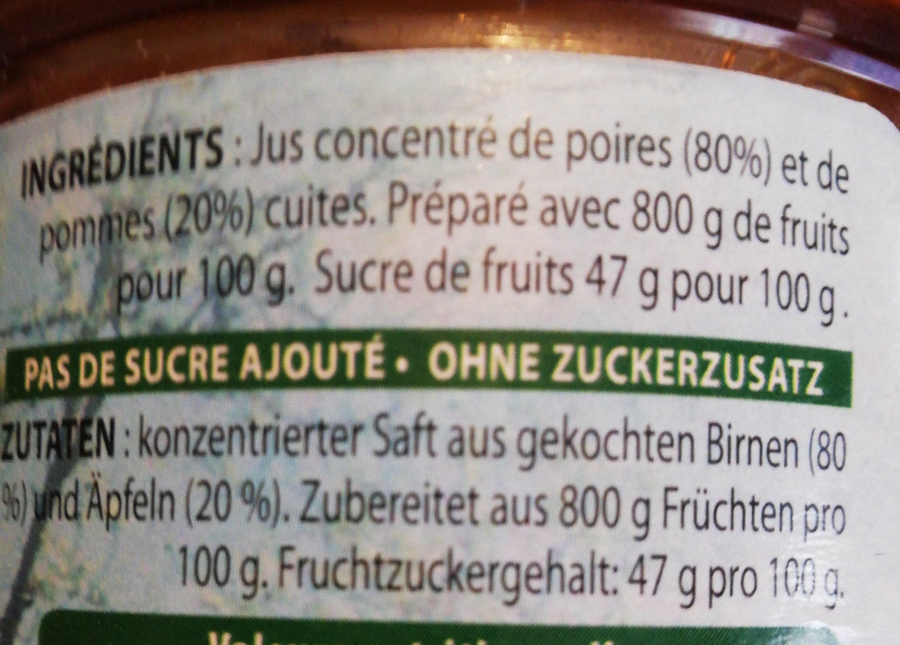 Sirop poires et pommes - Ingrediënten - fr