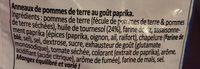 Hula Hoops Paprika - Ingrediënten