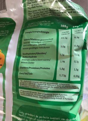 Croky Chips Bolognese 18X200G - Voedigswaarden