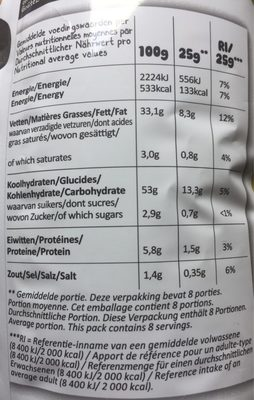 Chips Pickles - Nutrition facts