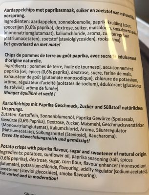 Chips - Ingrediënten