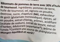 SuperFrites Paprika - Ingrédients