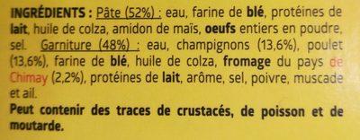 Crêpe Poulet, Champignon, Fromage - Ingrédients