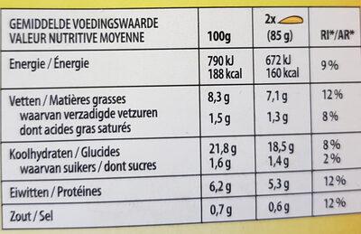 Crêpe Poulet, Champignon, Fromage - Informations nutritionnelles