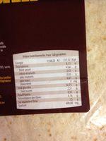 Tortilla De Blé Dur 30cm - Voedingswaarden