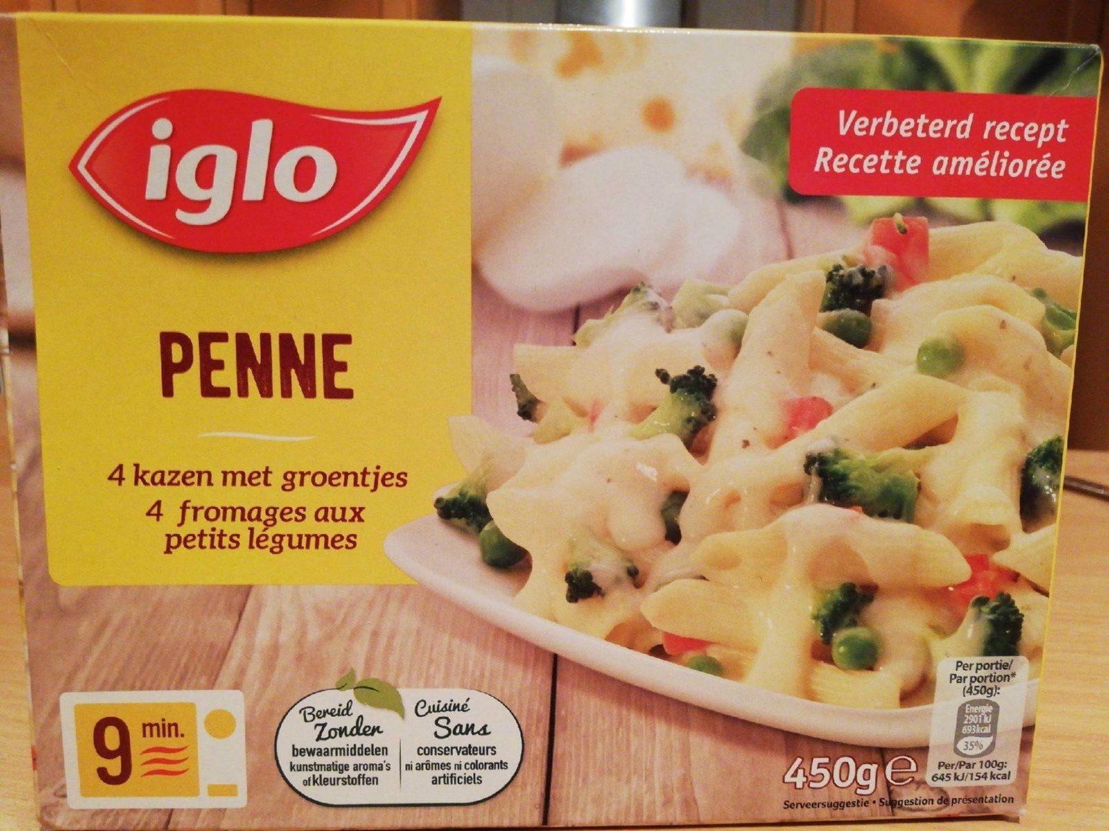 Penne 4 fromages au petit légumes - Product - en