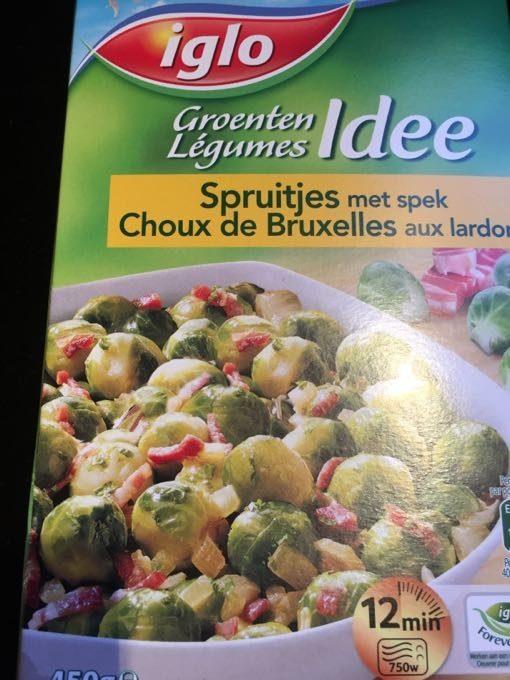 Iglo Field Fresh Spruitjes Met Spek - Produit