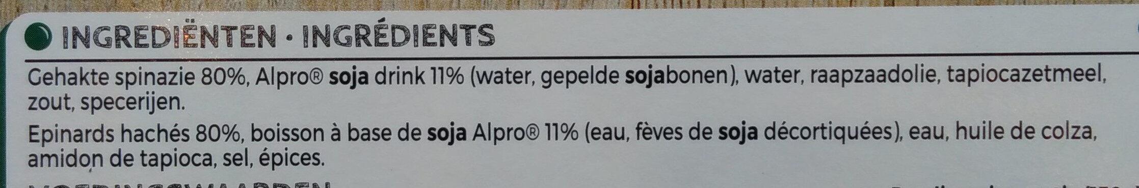 Epinards hachés avec Alpro - Ingrédients - fr