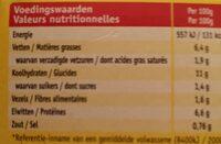 Filet de poulet - Voedingswaarden - fr