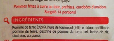 Frites belges - Ingredients