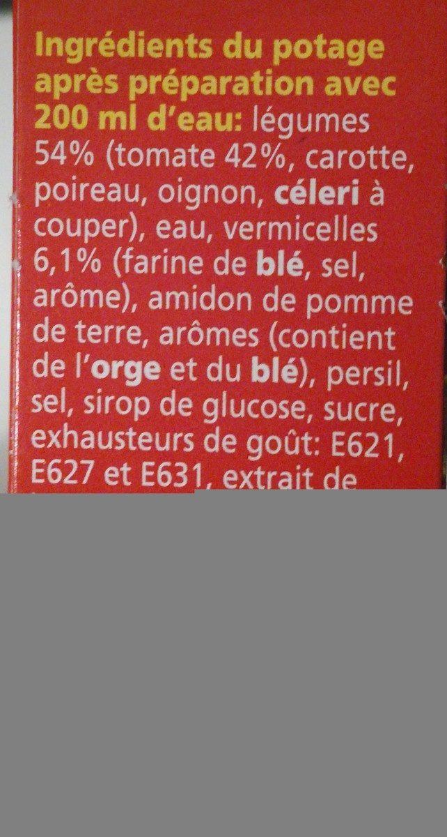 Tomates legumes vermicelles - Ingredients - fr