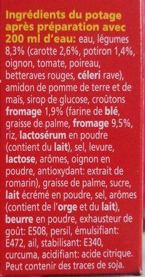 Potiron carottes - Ingredients - fr