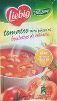 Soupe à la tomate avec pâtes et boulettes de volaille - Produit - fr