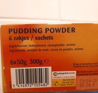 Pudding chocolat - Ingrédients - fr