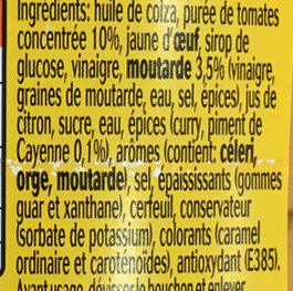 Sauce Andalouse - Ingredients