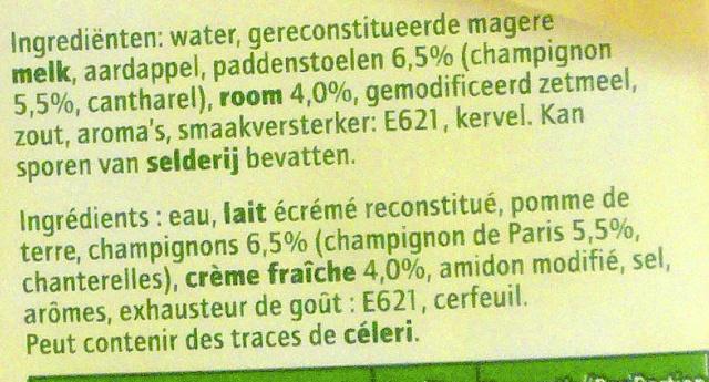 DeliSoup - Ingredients - fr
