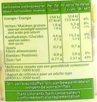 DeliSoup - Nutrition facts - fr