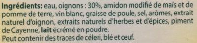 Soupe à l'oignon - Ingrediënten - fr