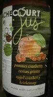 Jus pommes cranberry cerises griottes - Product - fr