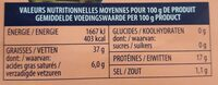 Thon à l'huile d'olive - Informations nutritionnelles - fr