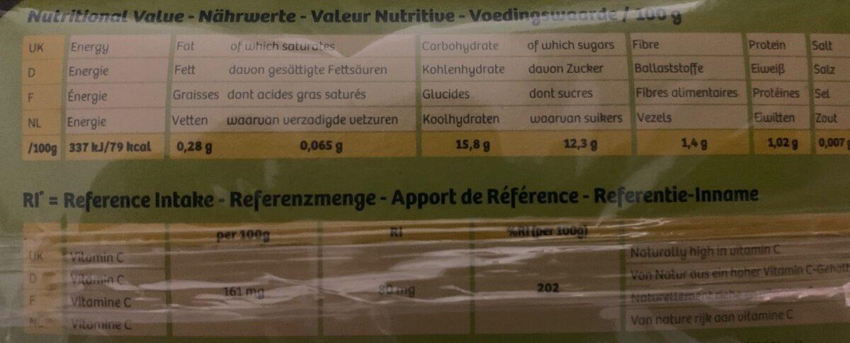 Zespri Sun Gold - Kiwifruit - Ingredienti - fr