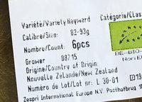 Kiwis bio - Ingrédients - fr