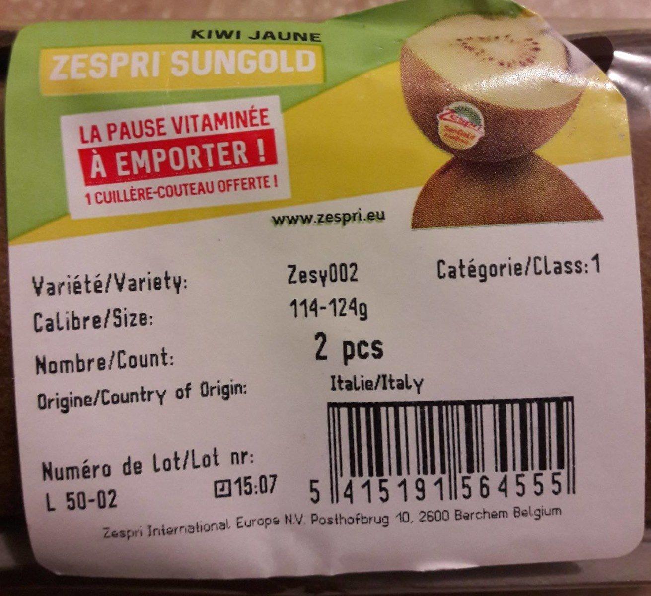 Kiwi jaune - Ingrediënten