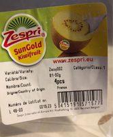 Sungold kiwifruit - Produit - fr