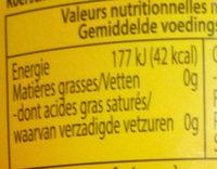 Kidibul - Voedingswaarden