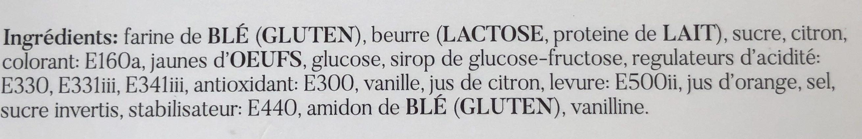 Sables citron - Ingrédients - fr